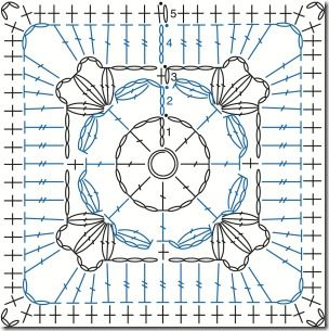 Free Motif 105 from Edie Eckman's Beyond the Square: Crochet Motifs
