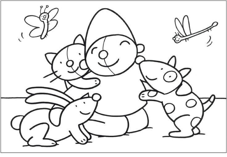 kleurplaat pompom huisdieren pompom