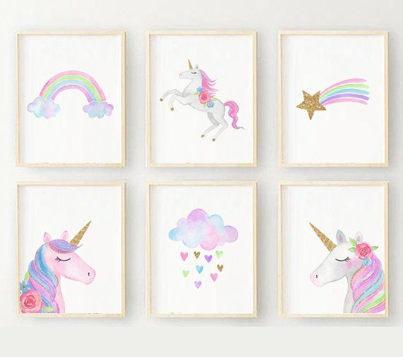 Personalised and adaptable picture print fairy Wall art for girls kids room