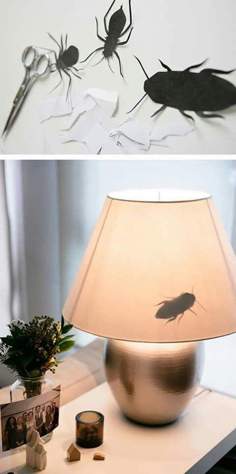 Insectos en la lámpara