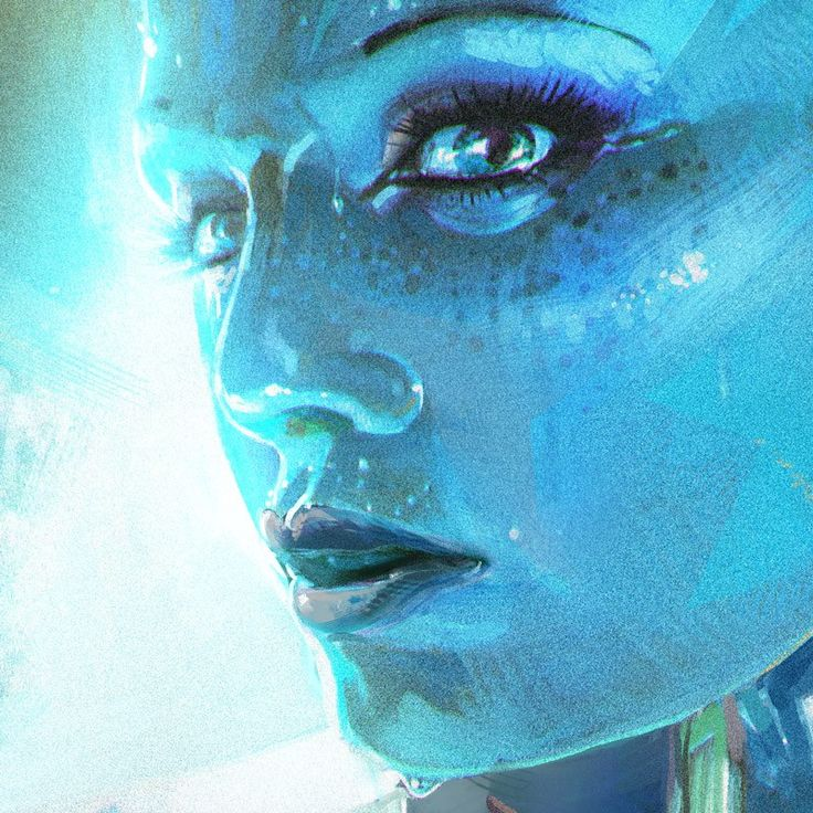 "Mass Effect 3: Liara - Created by Kasper Available for sale as a 18"" X 24"" lithography print at the Bioware Store."
