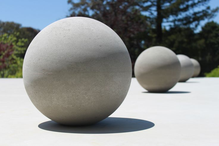 Our spheres...bollard style.  Handmade using a unique method to keep the seam to an absolute minimum.