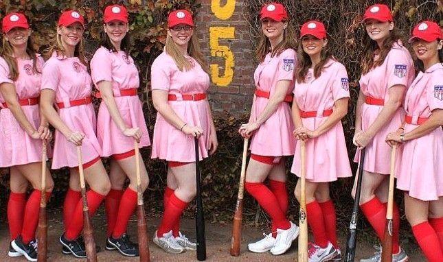 100 Winning Group Halloween Costume Ideas--- I love the girls team from a leave of their own and the Bella singers. Now I just need girlfriends for next year!: