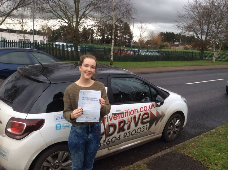 """Congratulations Lucy Chambers passing driving test 1st time with only 5 minor driving faults 12/12/14 at Northampton Driving Test Centre with Andrew Batty of www.adrivetuition.co.uk  #Driving #Adrive #DrivingTest #DrivingSchools #DrivingLessons #DrivingInstructors #Northampton  #Northants  Lucy said """"Couldn't have asked for a better instructor than Andrew. Everything was clearly explained and I was never made to feel silly when asking obvious questions. Would definitely recommend him to…"""