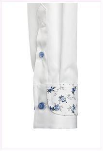 white shirt cuff