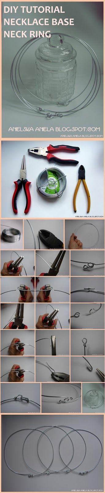 diy tutorial necklace base or metal ring collar necklace