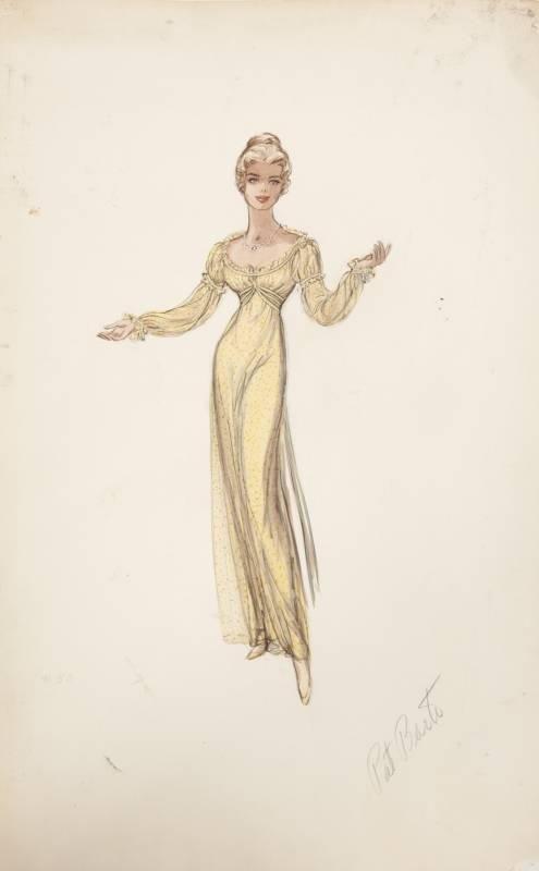 """Inger Stevens - """"The Buccaneer"""" (1950) - Costume designer : Edith Head"""