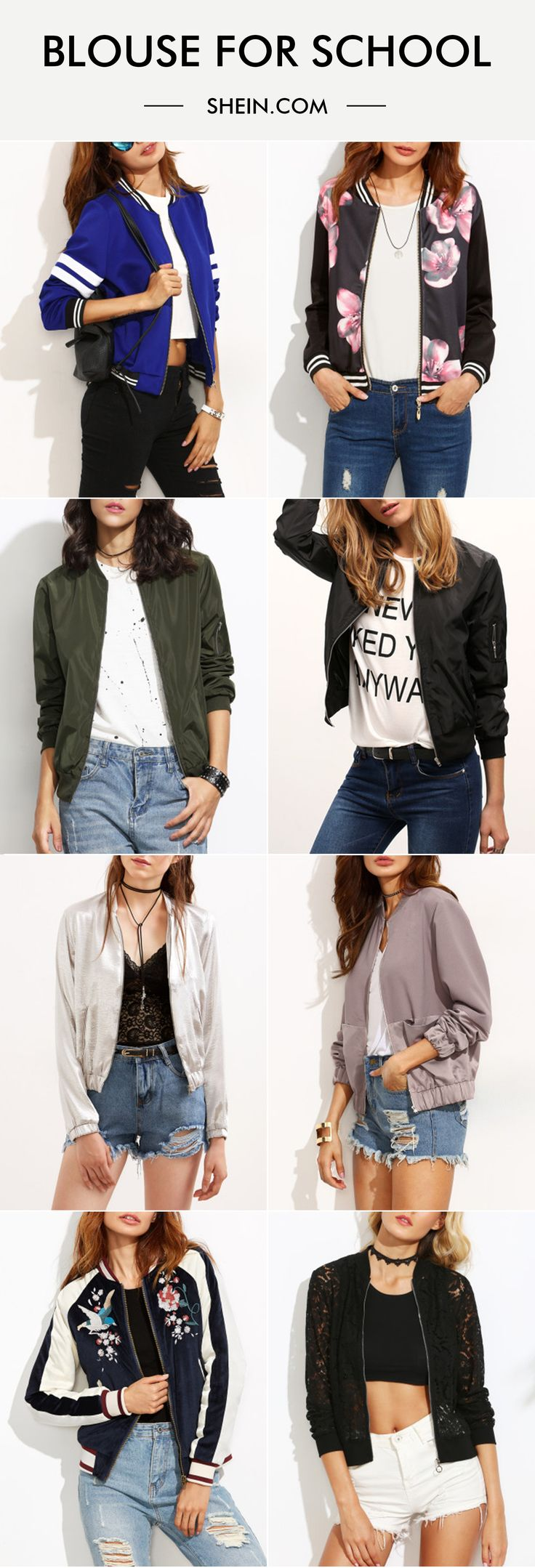 Fall into fashion! Love bomber jacket for fall! Warm & adorable!
