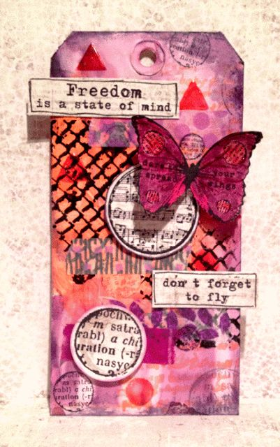 KREATIV SCRAPPING BLOGG: TAG - FREEDOM IS A STATE OF MIND