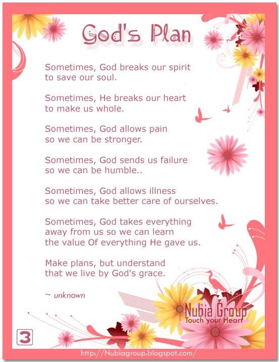 God's Plans Quotes | Good morning Nubia_group - Start your day with a smile *: God's Plan