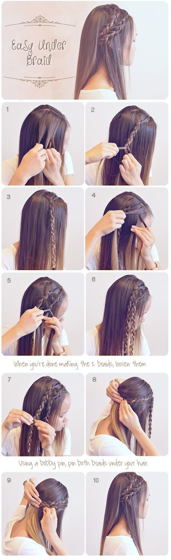 Quick Hairstyles For Braids 25 Best Ideas About Cute Braided Hairstyles On Pinterest Cute