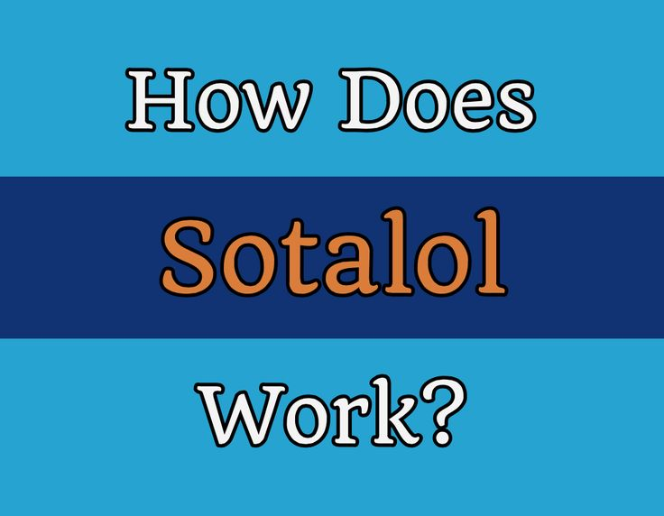 Sotalol works to control the rhythm of the heart by increasing the refractory period and blocking beta receptors in the heart. This means it can decrease th