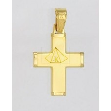KTX 018  Σταυρος χρυσο κ14 καρατια