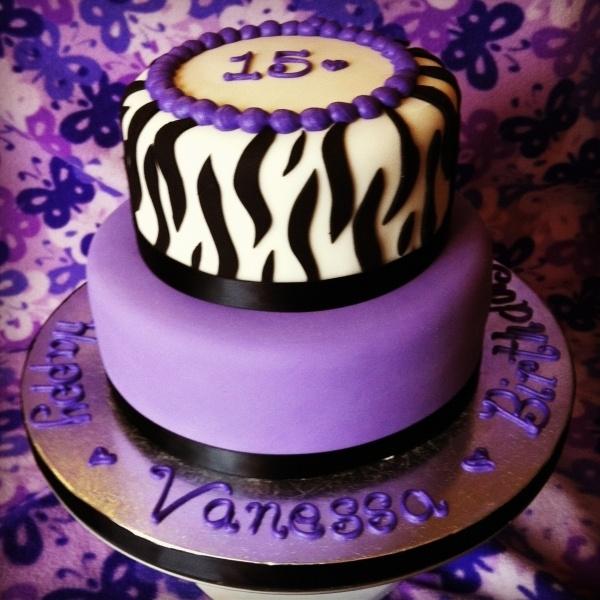 Karlee would LOVE this purple Zebra cake