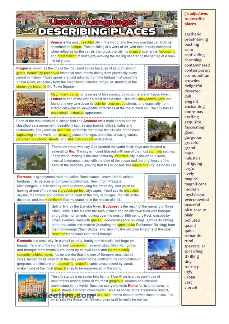 Useful language: Describing Places
