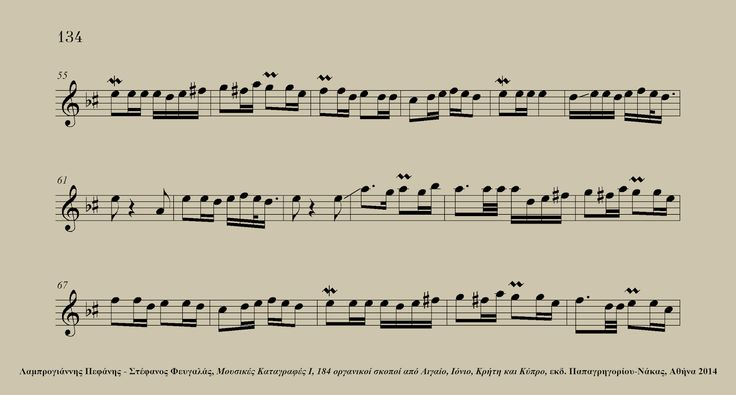 Sousta dodekanisiaki (Rhodes, Greece) - Giannis Koulianos (violin) Excerpt from: Lamprogiannis Pefanis - Stefanos Fevgalas, Musical Transcriptions I - 184 instrumental tunes from the Aegean and Ionian Seas, Crete and Cyprus, ed. Papagrigoriou-Nakas, Athens 2014