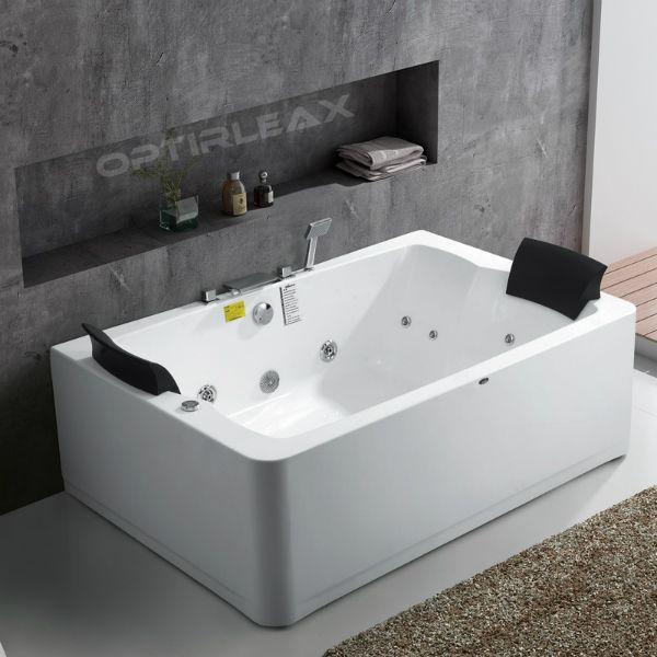 Whirlpoolwanne Optirelax Rlx 2 Straight Eco Fur Zwei Personen In 2020 Grosse Badezimmer Badewanne Whirlpool Badewanne