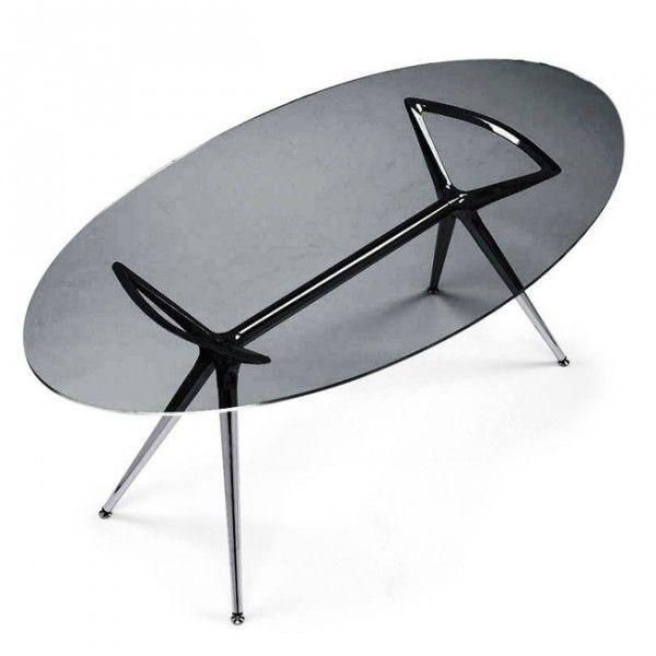 PIATTO RETTANGOLARE  DA TAVOLA   METROPOLIS 180x100 Vetro Ellittico, ovale o rettangolare, tavolo Fisso ...