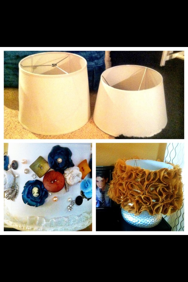 Before and After  Homemade Lamp Shades