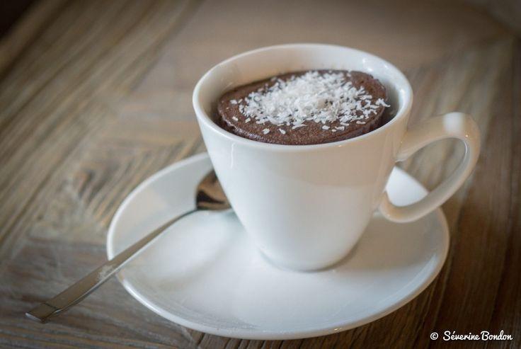 le mug cake healthy chocolat/banane/coco ... prêt en 1 minute