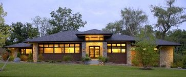 Prairie style home - contemporary - exterior - detroit - VanBrouck & Associates, Inc.