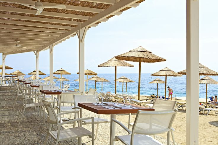 Summertime means eating by the sea! Marbella Corfu Hotel