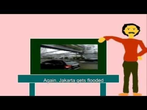 Jakarta flood -- cartooned   Mr. Nurman learns to tickle your fancy
