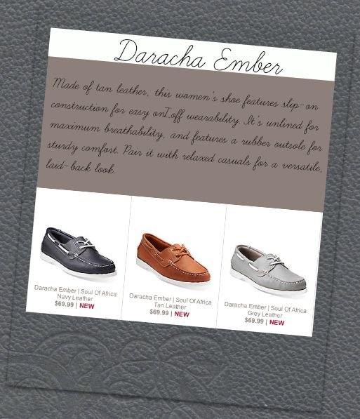 The Daracha Ember. Now available from Clarks US.