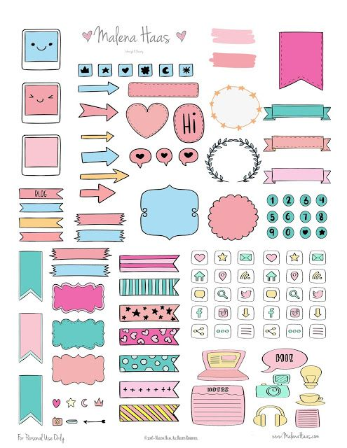 Free Functional Planner Stickers