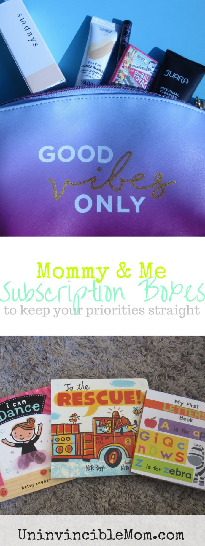 Subscription boxes for mommy and me! Find out how you can use subscription boxes to hold yourself accountable and keep your priorities straight!
