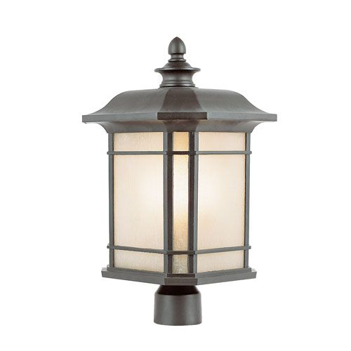 Corner Windows 16 Inch High Post Top Light Black Trans Globe Lighting Post Mounted Outdoo