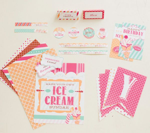 Ice Cream Shoppe Birthday Party Theme for Pottery Barn Kids {+ Free Printables!} #FreePrintables #HWTM #IceCreamParty