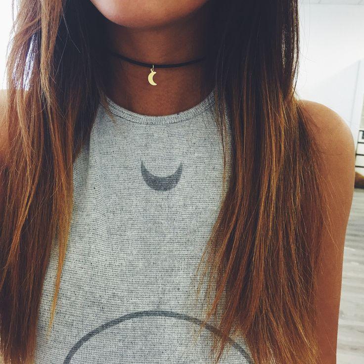 ↠{@AlinaTomasevic}↞ :Pinterest <3 | ☽☼☾ love life ☽☼☾ | ღ diy choker | Gold Crescent Choker – Stargaze Jewelry