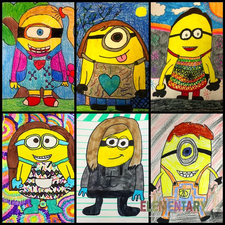Exploring Art: Elementary Art: Minion Self Portraits--The Best Sub Plan EVER!