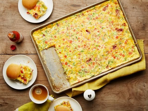Get Sheet-Pan Bacon Egg Sandwiches for a Crowd Recipe from Food Network