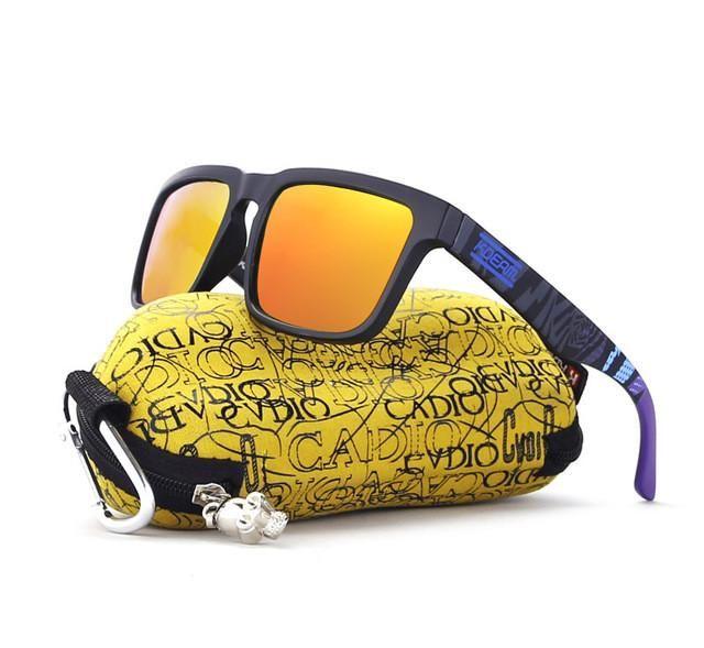 KDEAM 2017 Hot Sport Sunglasses men polarized Square Sun Glasses HD lens UV400 lunette de soleil With Original Case KD901P-C20