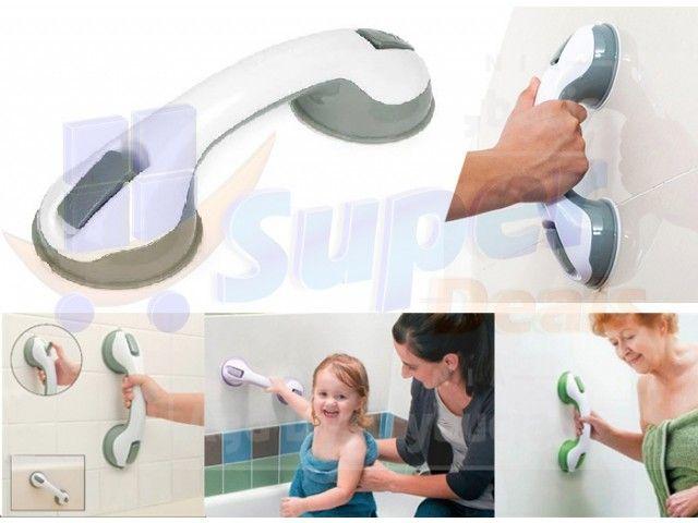 Uchwyt łazienkowy pomocniczy na przyssawki