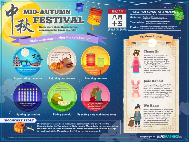 All about the Mid-autumn Festival - Digital Static Infographic