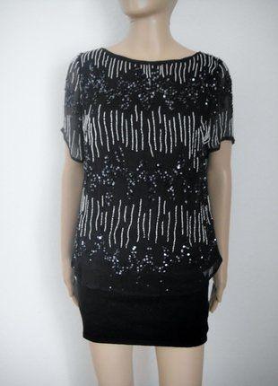 Kaufe meinen Artikel bei #Kleiderkreisel http://www.kleiderkreisel.de/damenmode/blusen/148323378-young-couture-by-barbara-schwarzer-pailletten-top-schwarz
