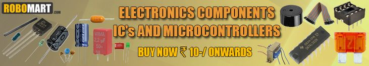 Looking for electronic components online, Capacitors, fuses, connectors, Cables, Resistances, Resistors, Diodes, Crystal Oscillators, Switches and Sockets, Transformers, Transistors, Piezo Electric Buzzers, Microphone and Speakers, Relay, Basic Electronics components online available in India at very reasonable price on Robomart.