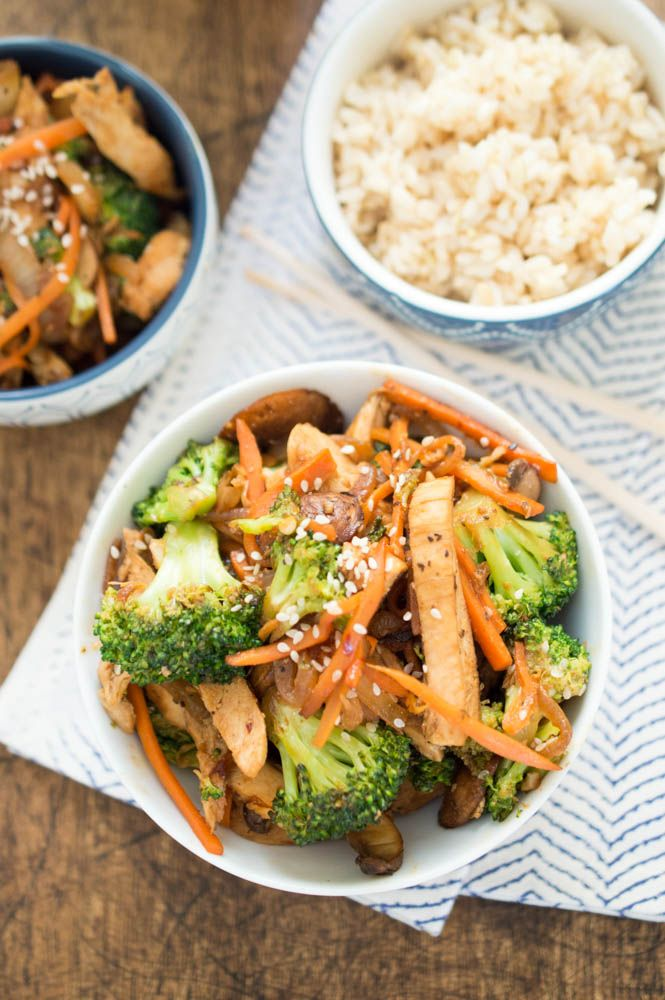 Easy Chicken Stir Fry loaded with crispy caramelized vegetables and tender slices of lean chicken breast. A quick 30 minute meal made in one pan!