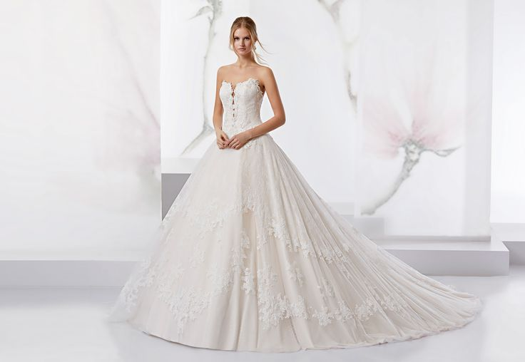 Princess Jolies full chantilly with dot tulle and chiffon