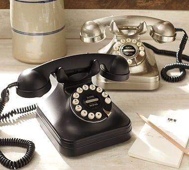 PB Grand Phone #potterybarn: Decor, Idea, Vintage Telephone, Pb Grand, Grand Phone, Vintage Phone, Retro Phone, Pottery Barn, Phones