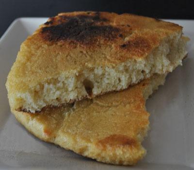 Un pain plat à la semoule de blé dur