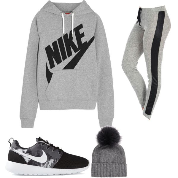 Lazy Day With Shawn by magcon-prefs on Polyvore featuring NIKE, Vintage Havana and Inverni