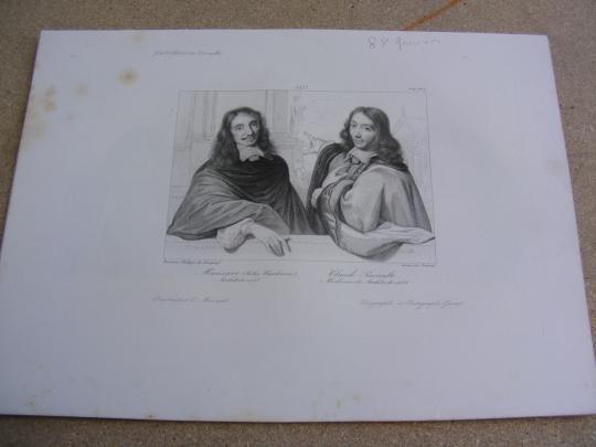 jules hardoin mansart | Mansart (Jules Hardouin), Claude Perrault, médecin architecte gravure ...
