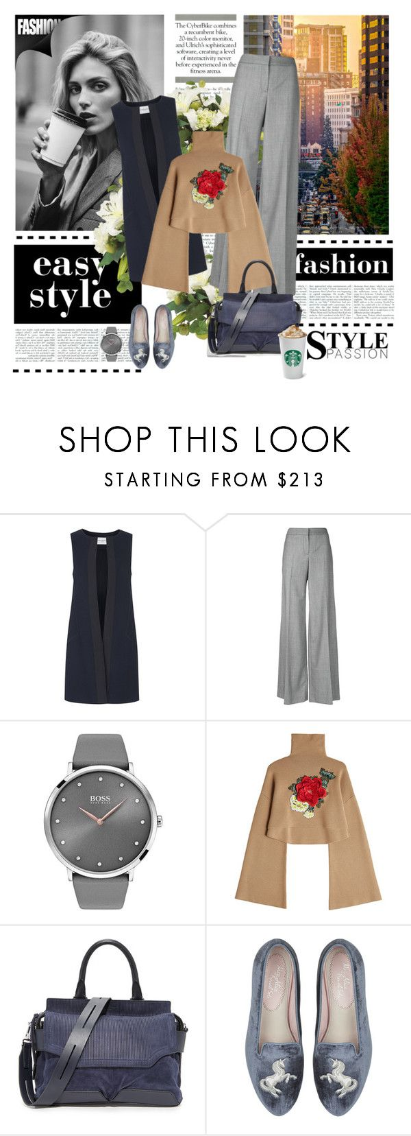 """Jillian"" by dragonfly-lt ❤ liked on Polyvore featuring Anja, Amanda Wakeley, Alexander McQueen, BOSS Black, William Fan and rag & bone"