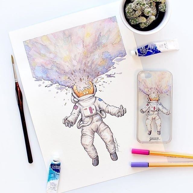 The resemblance is uncanny{case: Astronaut} #instadaily #instamood #iphone #phonecase #samsung. Phone case by Gocase http://goca.se/gorgeous