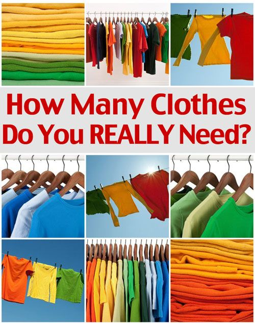 How Many Clothes Do You REALLY Need? Too many clothes? You can save $100's of dollars by knowing exactly what you need!