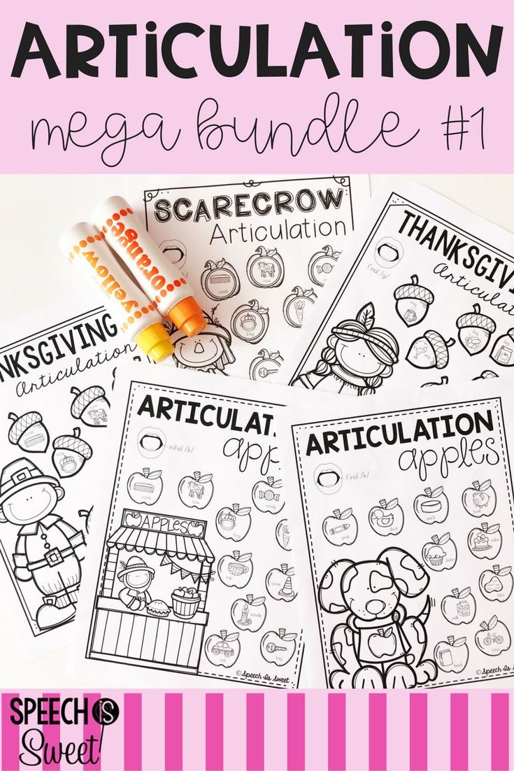 Coloring activities speech therapy - Articulation Bundle